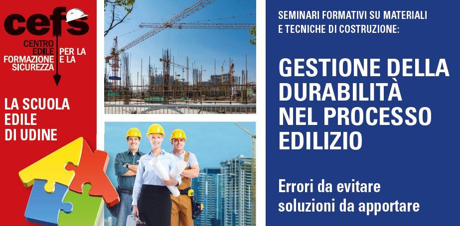 """Giovedì 28/02/19: seminario """"Gestione e durabilità nel processo edilizio"""""""